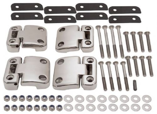 Defender Stainless Steel 2nd Row Door Hinges - set of 4